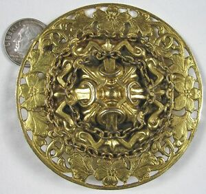 Is Monet Jewelry Real >> Large Vintage Cast Goldtone Medieval Shield Freirich | eBay