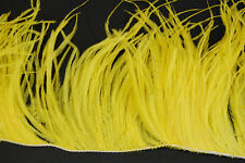 """36"""" OSTRICH FEATHER FRINGE - YELLOW 3-6"""" Craft/Pad/Trim"""
