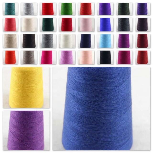 100g Cone 100/% Cashmere Hand Knitting Crochet Wrap Scarf shawl Yarn Dark Gray 28