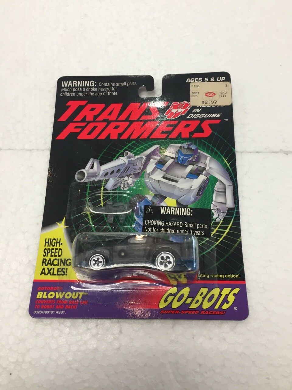 1994 Transformers Go-Bots 1 64 BLOWOUT by hasbro