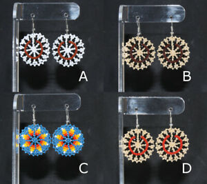 Circle-Earrings-by-Charmayne-Nelson-Navajo-Many-colors-Quantity-Discount