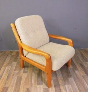 Teak Sessel Easy Chair Danish Design Denmark Vintage 70s 70er Massiv