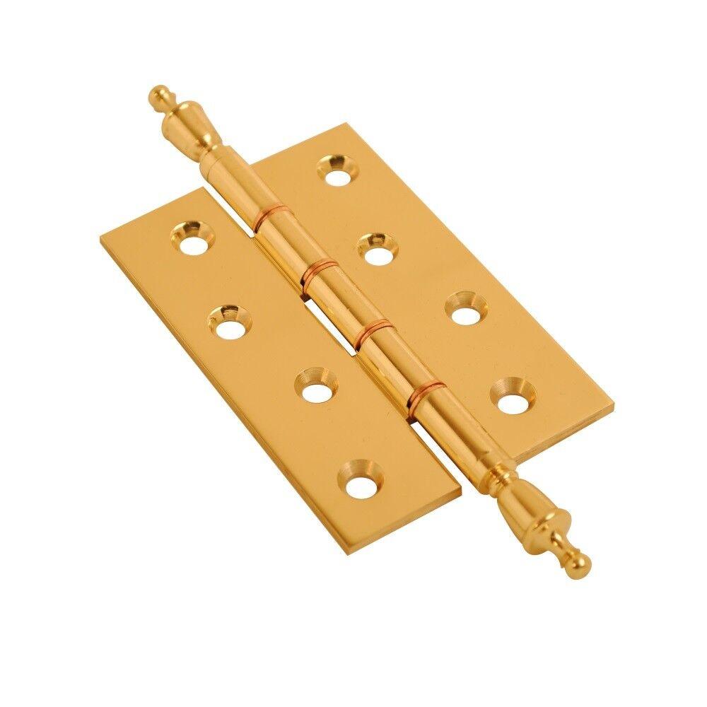 Polished Brass Finial Door Hinge Finial Hinge Decorative Phosphur Bronze Washer