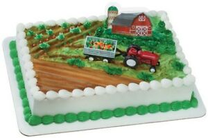 Cake Decorating Kit Matchbox : Cake Decorating Topper Kit - Farm Tractor and Trailer eBay