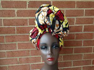 Multi-color 100/% COTTON. 44/'/'X34/'/' Trendy Head Wrap