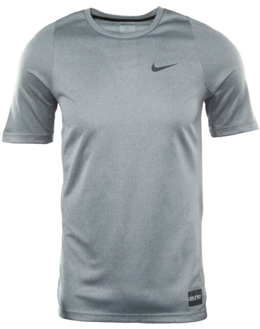 d3fe0163fad4 NEW MENS NIKE ELITE SHOOTER BASKETBALL DRY FIT COOL GREY CREW NECK T SHIRT  TEE S