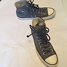 9e6f3530d612 Converse All Star Women s Shoes Gray Canvas Hi top Lace Up Size 8.5 or  Men s 6.5