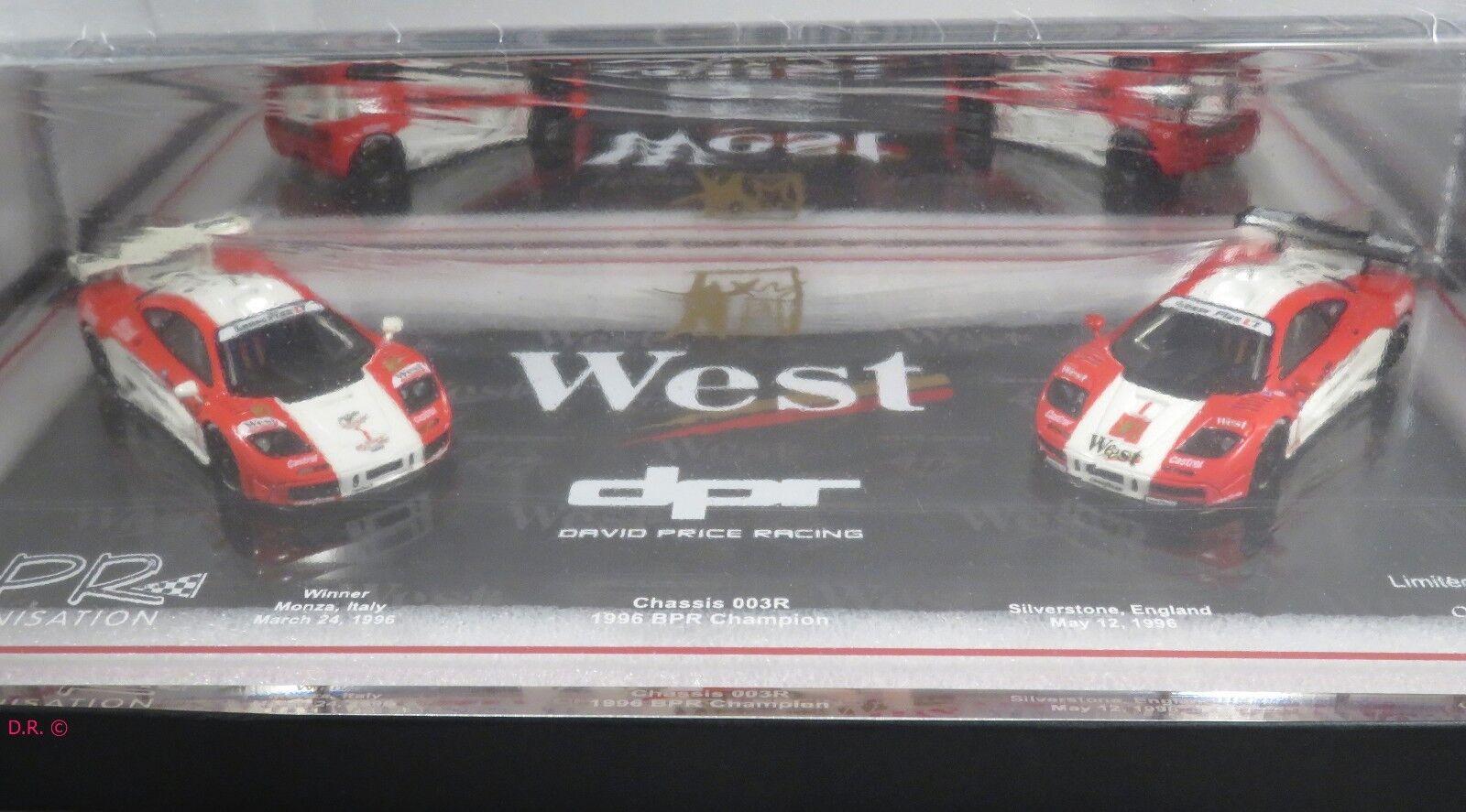MCLAREN F1 GTR  1 DAVID PRICE WEST 1996 BPR Champion MONZA 25p SET AUTOBARN 1:43