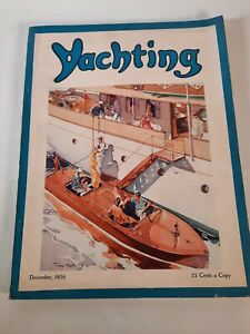 Vintage December 1936 Yachting magazine .Boating advertisements