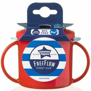 Tommee-Tippee-Free-Flow-First-Cup-Essentials-4m-Red-190ml