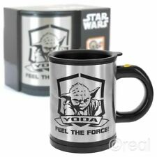 Disney Licenced Star Wars Self Stirring Mug Darth Vader Use the Force Yoda NEW