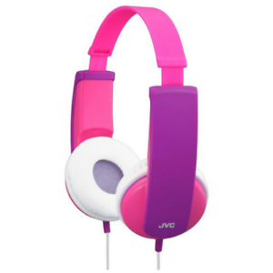 JVC HAKD5P TINY PHONES KIDS STEREO DJ ON-EAR HEADPHONES - PINK/PURPLE - HAKD5P