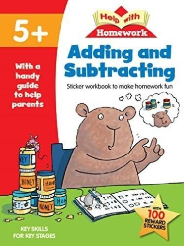 "1 of 1 - ""AS NEW"" Help with Homework Adding & Subtracting 5+, Help with Homework, Book"