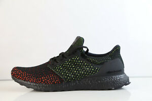 775170dce Adidas Ultra Boost Clima Cool Black Glow Solar Red AQ0482 8-11 ...