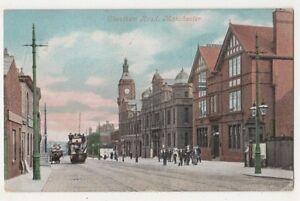 Cheetham-Road-Manchester-1908-Postcard-B638