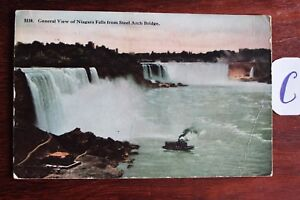 Carte Postale Vue Carte Amérique Du Nord Usa General View Of Niagara-afficher Le Titre D'origine