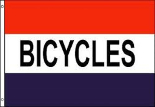 BICYCLES Bike Bikes Cycle Hire Shop Advert Sign Advertising POS 5'x3' Flag