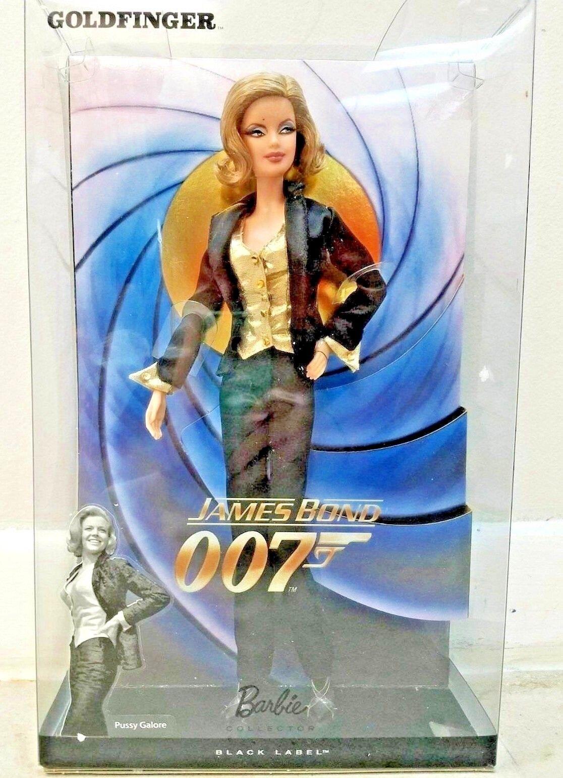 BARBIE JAMES BOND 007 oroFINGER NRFB - negro LABEL new model muse doll Mattel