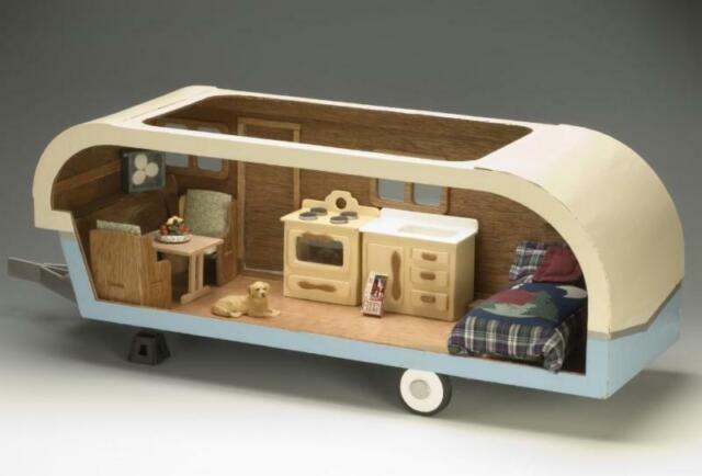 Greenleaf Dollhouses Vintage Travel Trailer Dollhouse