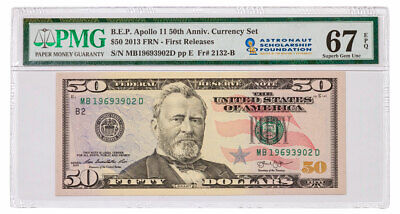 2019 Apollo 11 $50 Note From 50th Anv Currency Set PMG 67 FR Astronaut SKU59223