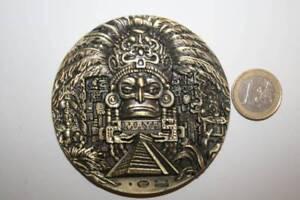 Calendario Solar Maya.Detalles De Tremenda Medalla Calendario Solar Maya 192 Gramos 80mm Diametro 4mm Grueso