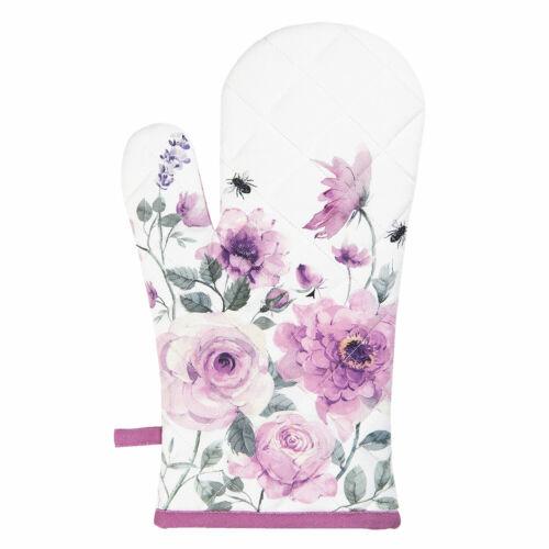 Clayre /& Eef Ofenhandschuh Topflappen Blumen 30 x 16 cm NEU