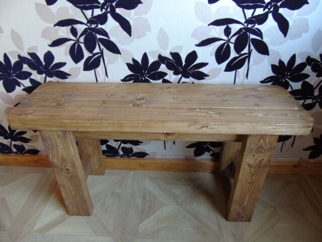 Terrific Handmade Wooden Bench Many Colours Indoors Outdoors Garden Kitchen Dining Andrewgaddart Wooden Chair Designs For Living Room Andrewgaddartcom