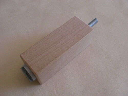 BUCHE NATUR QUADRATISCH 35mm.x35mm HOLZFÜSSE Möbelfüße M8 Möbelfuß H 8-20cm.