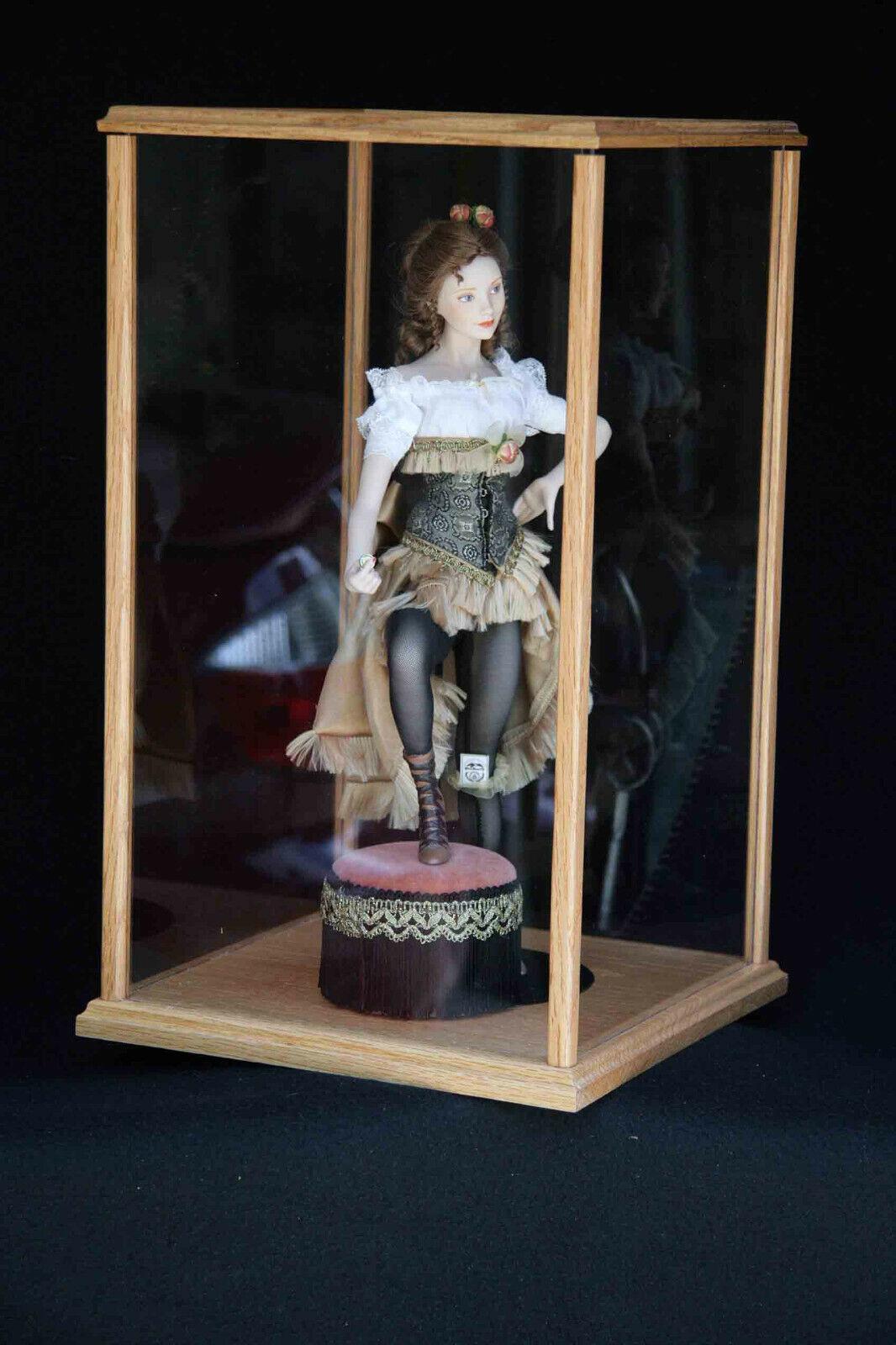 21  Golden Oak Doll Display Case by Oak Hill Crafts - C9