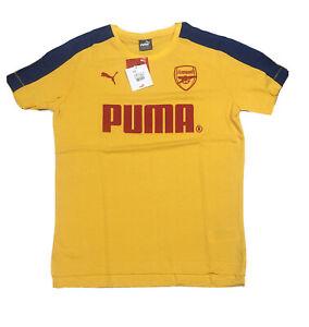 Arsenal-football-club-Puma-Mens-Tshirt-yellow-Soccer-XL