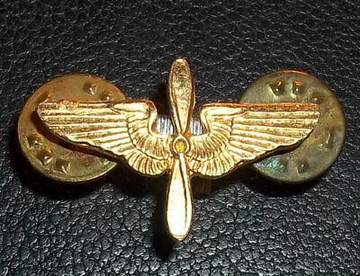 Propeller Gilt Plated Lapel Pin Badge