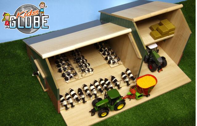 Kids Globe - Ganado & Maquinaria Cobertizo Establo - Granja Juego Juguete Modelo