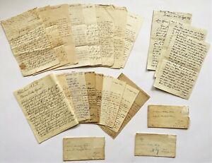 Bundle 24 handwriting letters evidence from 1848 Beautiful John Village Merz Meadow Berlin