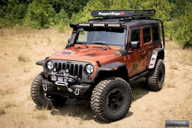 Rugged Ridge 11640.10 Hurricane Flat Fender Flare Kit 07-15 Jeep Wrangler (JK)