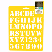 Alphabet Stencil Craft Letter Letters Numbers Number Art Template By Delta