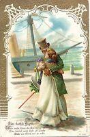 Mann und Frau, Schiff, Abschied, um 1900/10