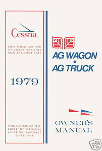 CESSNA-MODEL-188-AG-WAGON-amp-AG-TRUCK-1979-OWNERS-MANUAL