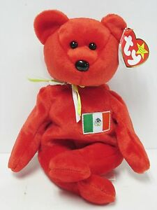 e6035f7dc0f Ty Beanie Baby Osito Mexico RED Bear PRISTINE CLEAN Brand New w Mint ...