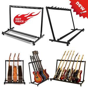 guitar stand 9 7 5 3 1holder guitar folding stand rack band bass acoustic guitar ebay. Black Bedroom Furniture Sets. Home Design Ideas