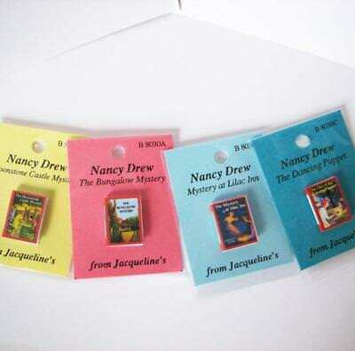 4 Mini /'DETECTIVE/' mystery  MAGAZINES Dollshouse 1:12 scale OPENING PAGES