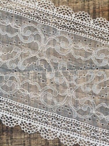 "laverslace Skintone Beige Corded Vintage Wide Stretch Tulle Lace Trim 6/""//15.5cm"