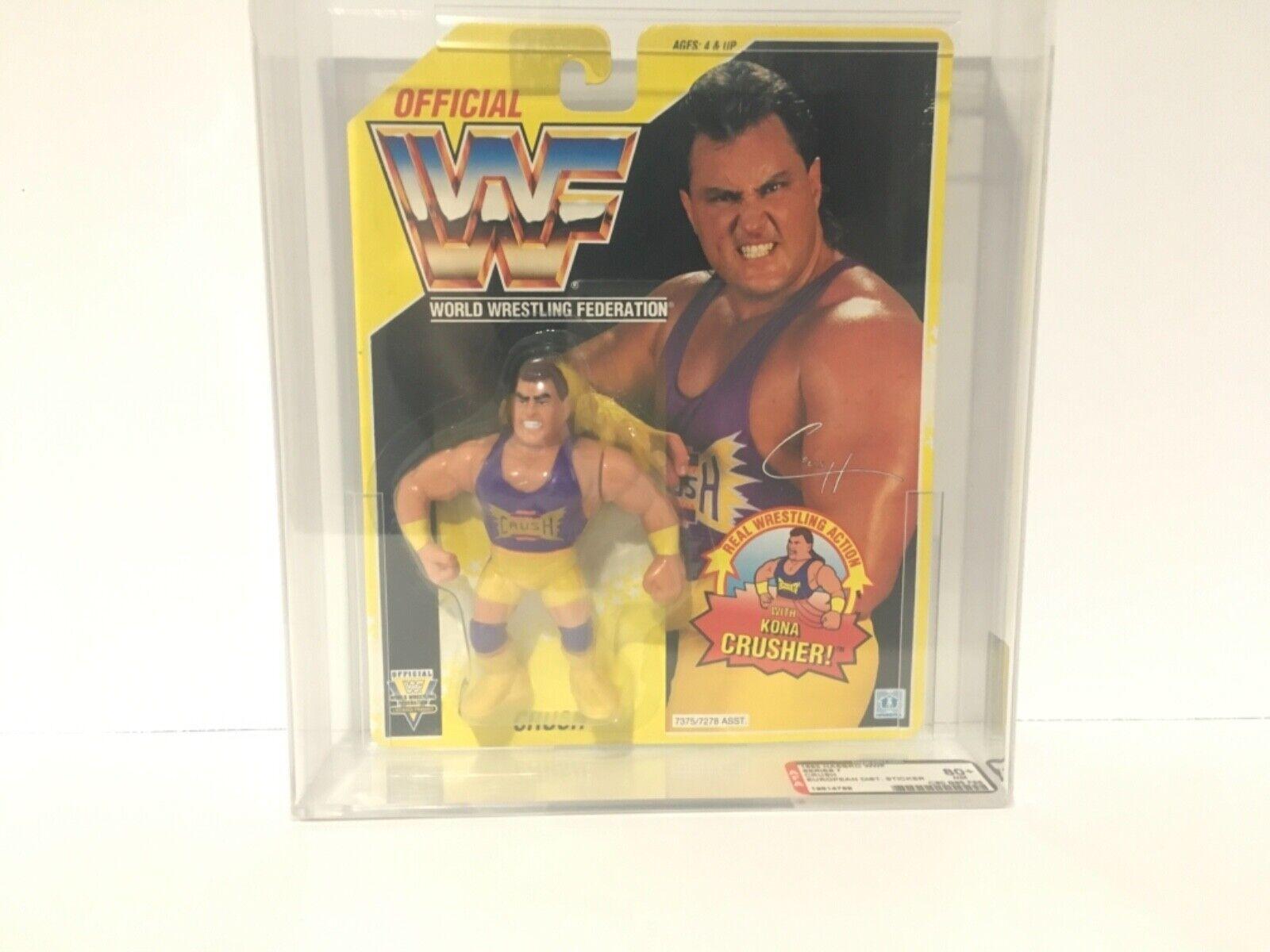 1993 série Hasbro WWF 7  Crush Figurine Autorité 80+ Euro Dist. Autocollant  nouveau sadie