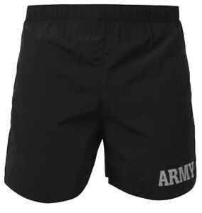 Image is loading Black-amp-Gray-Army-PT-Shorts-Military-Physical- 59e6bea651f9