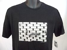 MENS DC SHOES WES KREMER BRICKS T-SHIRT SZ L MIDDLE FINGER NWT BLACK