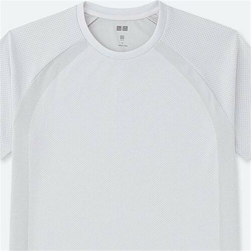 UNIQLO Men/'s Dry-EX Short Sleeve Fitness Athletic Crewneck T-Shirt S OFF WHT NWT