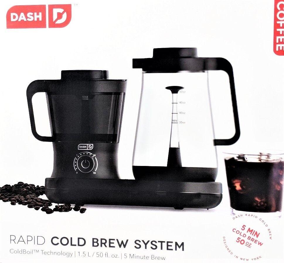 NEUF DASH froid Brew Cafetière 52693809 dcbcm 500BK 854940007533