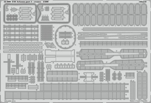 Eduard 1/200 USS Arizona BB-39 1941 partie 1 grues # 53099
