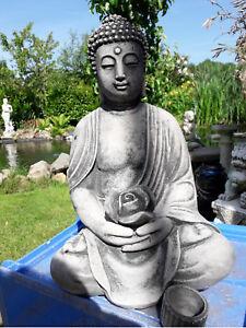 Der Buddha Im Garten Buddha Rama Mit Rose Als Kerzenhalter Ca 12