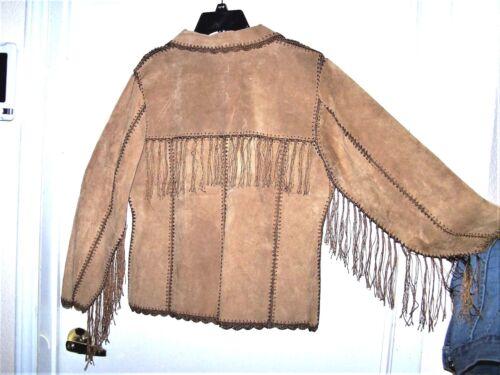 en Western 40 40 Veste Leather daim Suede de Western OwqSx6HST