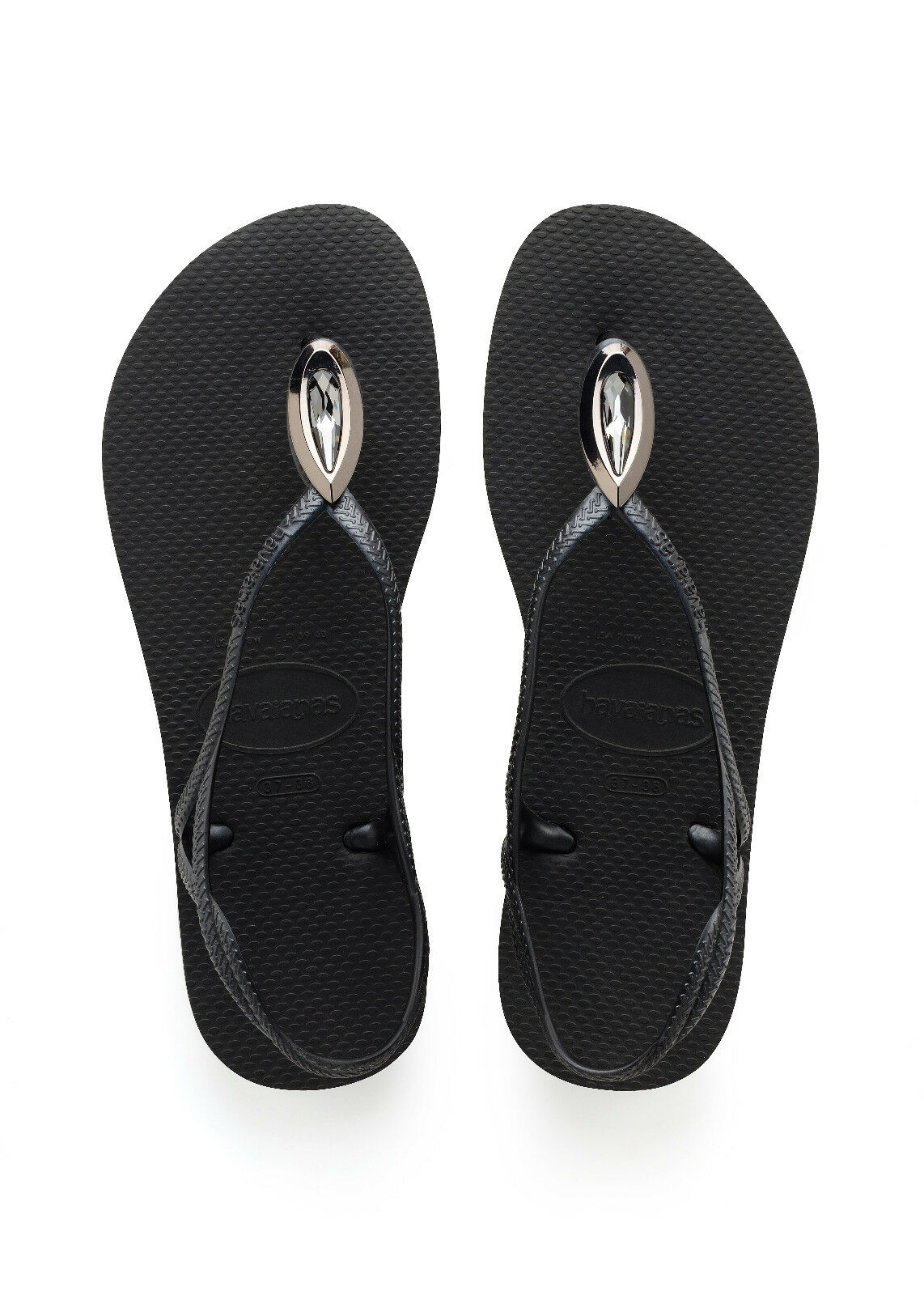 HAVAIANAS Zehentrenner Badeschuhe Thongs Sandale LUNA SPECIAL schwarz SO18 NEU